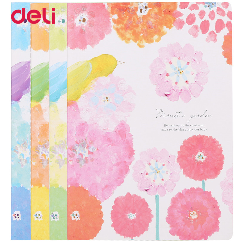 Deli kawaii Notebook 1Pc 2017 new colorful Flower Stationery Diary Planner Notepad notebook For School Supplies Kids Drawing