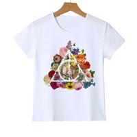 Fashion Owl On Finger Design Top Tee Summer Novelty Art Design Cute Cartoon Colorful Owl Kids T shirt Hot Sales Tee Shirts Z20-5