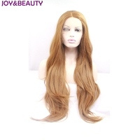 JOY&BEAUTY Synthetic Hair Wigs Long Loose Wave Lace Front Wig High Temperature Fiber Nausea brown 26inch Women Wigs