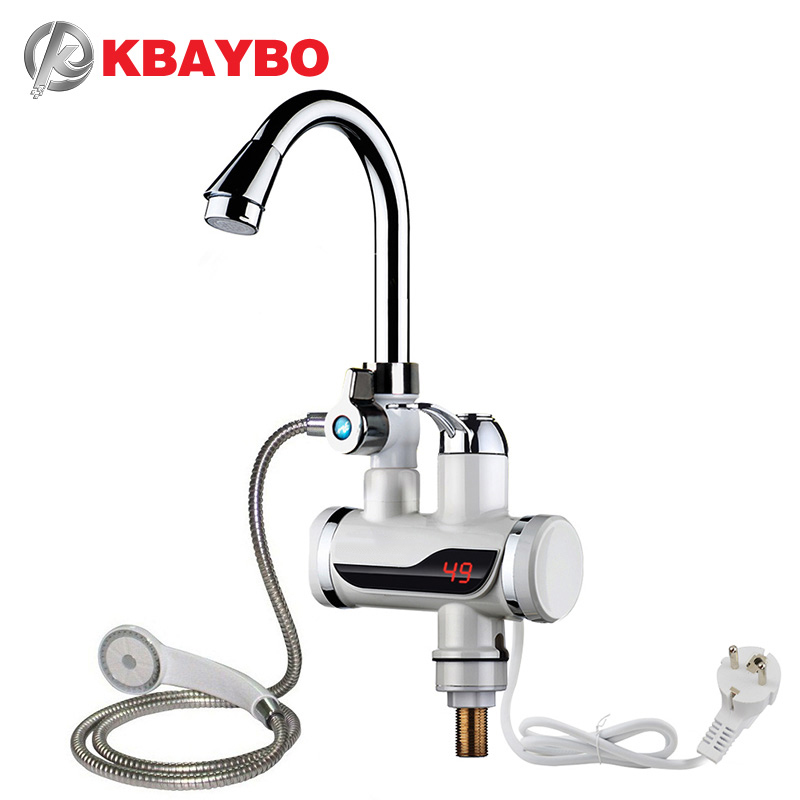 100% Wahr 3000 Watt Instant Elektrische Dusche Wasser Heizung Instant Heißer Wasserhahn Küche Elektrische Tap Wasser Heizung Durchlauferhitzer