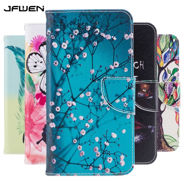 premium selection 5ff10 3f680 JFWEN For Funda Nokia 1 Case PU Leather Butterfly Flowers Protective Mobile  Phone Cases For Coque Nokia1 Cases Wallet Flip Cover