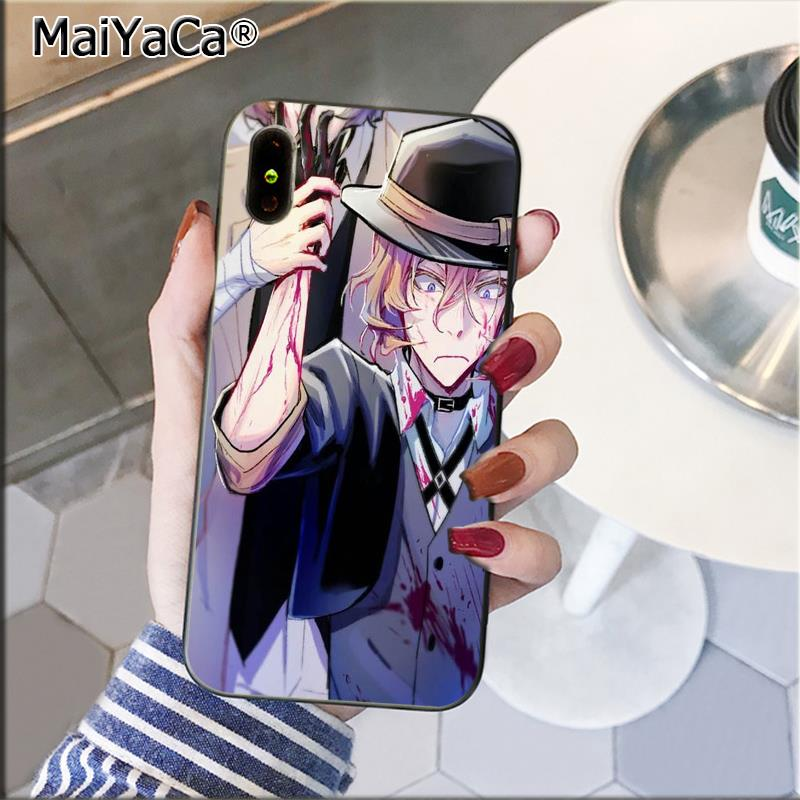 MaiYaCa Japan anime bungou stray dogs Dazai Osamu Phone Cover Shell for iPhone 11 pro max 8 7 6 6S Plus 5 5S SE XR X XS MAX in Half wrapped Cases from Cellphones Telecommunications
