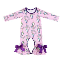 2018 Fashion High Quality 0 24M Kids Baby Girls Strap Unicorn Printing Romper Jumpsuit Harem Trousers