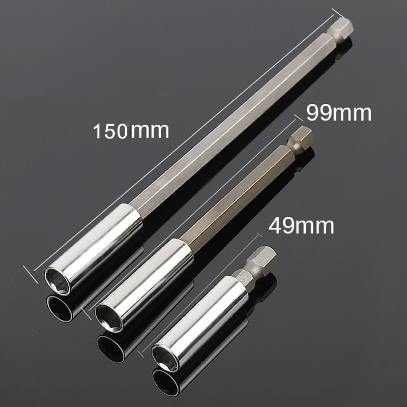 1/4 Inch Hex Bit Tip Holder Screwdriver Bit Extension Bar Screwdriver Lengthening Shank  Nail Screw Driver Drill Bit Holder