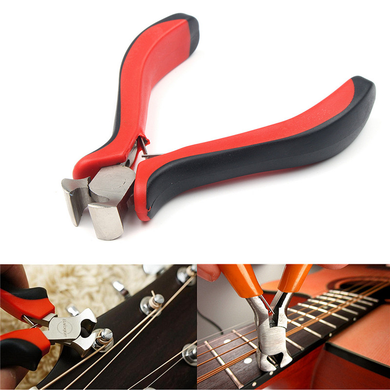 High Quality Guitar Bass Pliers Fret Puller Fret String Cutter Luthier Scissors Steel Tool For Guitar Parts Accessories new luthier tool electric violin purfling groove cutter q1