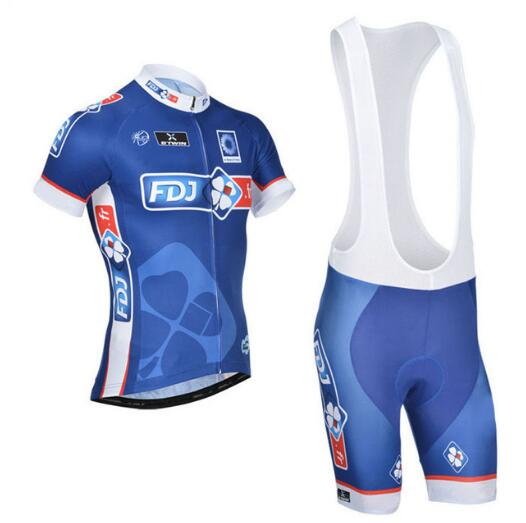 FDJ Cycling Jersey Quick Dry Bike Sets Breathable Bicycle Wear Short Sleeve Jersey 16D Gel Pad ковш gipfel ultra 2652