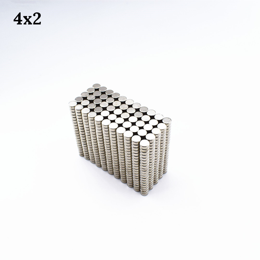 500pcs Neodymium magnet 4x2 Rare Earth small Strong Round sheet permanent 4*2 mm fridge Electromagnet NdFeB nickle magnetic DISC 1pcs neodymium magnet 30x10 mm rare earth super strong round permanent powerful 30 10mm fridge electromagnet ndfeb magnetic