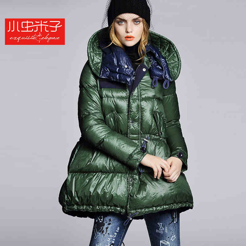 2015 New Hot Winter Thicken Warm Woman down jacket Coat Parkas Outwewear Hooded Loose Brand Luxury High-end Mid Long Plus Size L 2015 new hot winter thicken warm woman down jacket coat parkas outwewear hooded loose brand luxury high end mid long plus size l