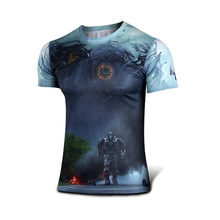 High quality new 2015 Men superhero Batman Jersey shirt quick dry fitness compression drying T shirt 3D girly men