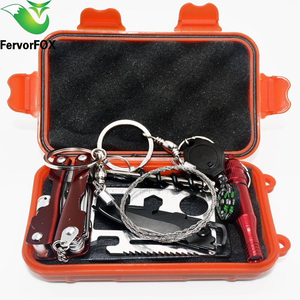 NEUE Outdoor Notfallausrüstung SOS Kit Verbandskasten Versorgung Feld selbsthilfe Box Für Camping Reise Überleben Getriebe werkzeug Kits