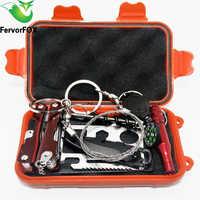 NEW Outdoor Attrezzature Di Emergenza SOS Cassetta di Pronto Soccorso Forniture Campo di auto-aiuto Per Viaggi di Campeggio Di Sopravvivenza Gear Kit di utensili