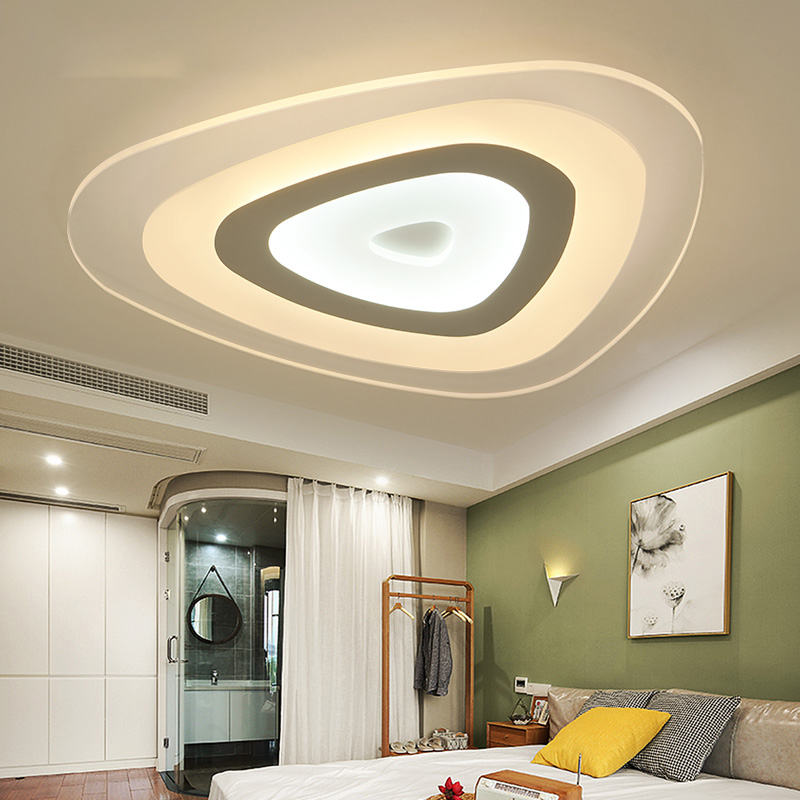 Ultrathin Triangle Ceiling Lights lamps for living room bedroom lustres de sala home Dec LED Chandelier ceiling for living room|Ceiling Lights| |  -