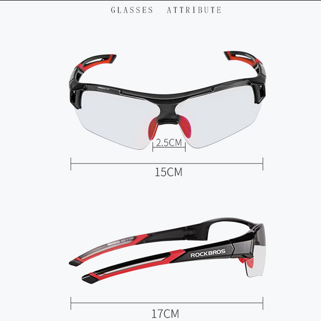 Photochromic Myopia Frame Outdoor Sports Cycling Sunglasses