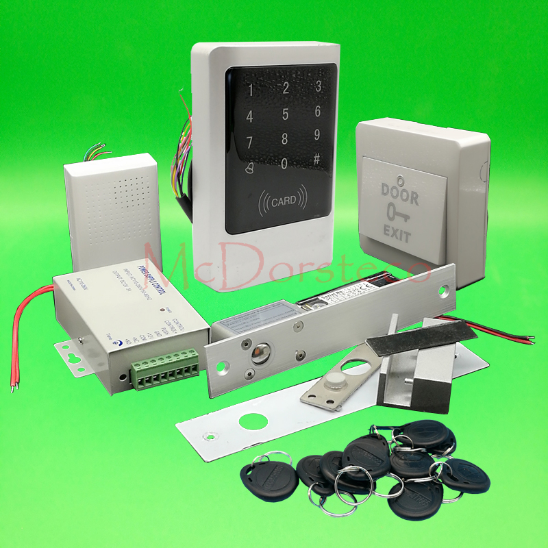 IP68 Waterproof Full 125khz Rfid Door Lock control system Kit Electric Bolt Lock Metal Touch Keypad Glass Door Access Control ld6187001 ld6092001 spa0001 for brother ads 2000 ads 2100 ads 2500w pick roller separation pad