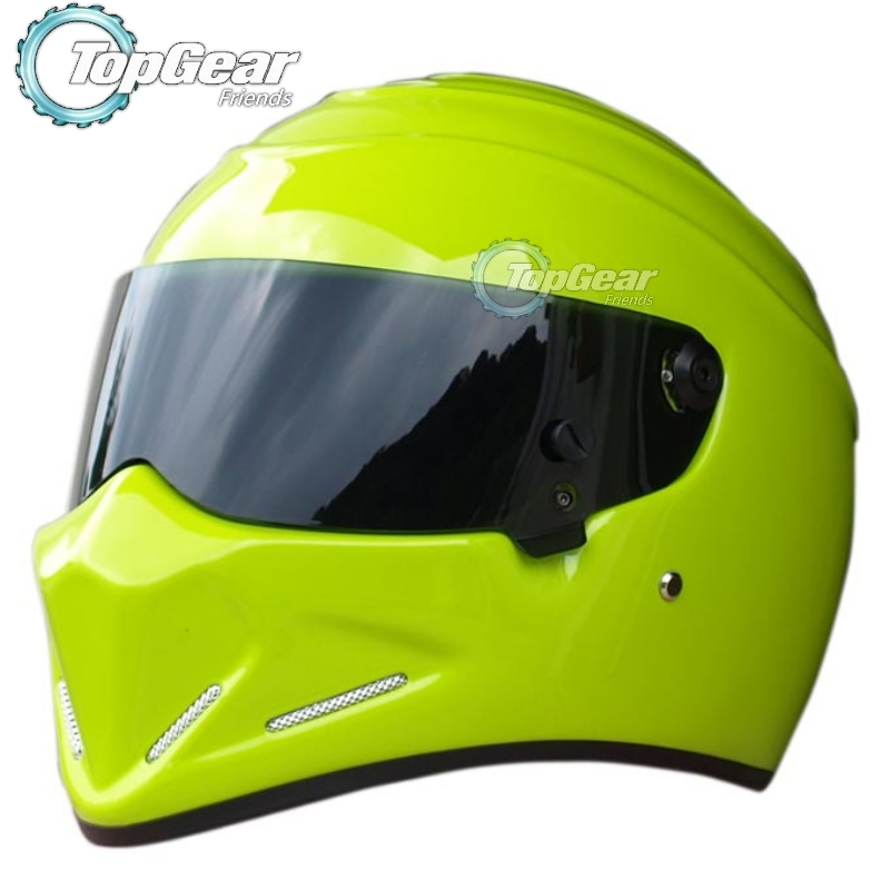цена на For TopGear The STIG Helmet Capacete Casco De Collectable as SIMPSON - Red or Green Helmet with Many styles of Visors / New Stig