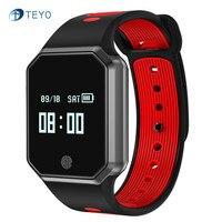 Teyo Heart Rate Monitor Bracelet QW11 Sleep Tracker Fitness Bracelet Pedometer Wristband Waterproof Steps Calorie Android