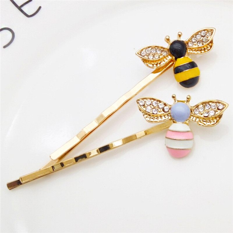 Fashion Cute Girls Crystal Wings Bees Hair Jewelry Animal Styles Hairpins Hair Clips for Women's Hair Accessories Barrettes