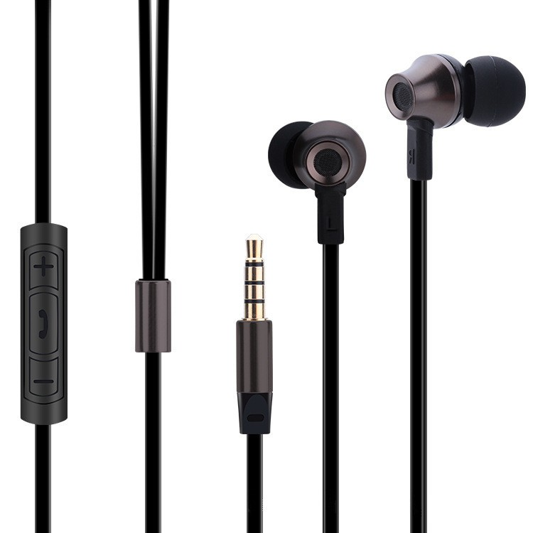 The new abingo ES700 metal ear headset headphones mobile phone universal mobile phone headset wire 5