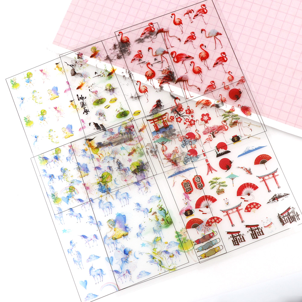 New Mix Horse Elf Birds 5pc Crop Transparent Material With Use Of Epoxy Mold Making Tool Filling For DIY Jewelry