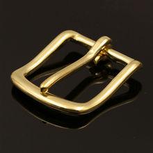 Solid Brass Belt Buckle End Bar Heel bar Buckle Single Pin Belt Half Buckle For Leather Craft Bag Strap Jeans Webbing Dog Collar