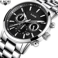 Men S Watch LIGE Top Luxury Brand Men Quartz Watches Business Sport Waterproof Casual Fashion Military