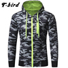 T Bird Camouflage Snowflakes 3d Hoodies Men Cardigan Sweatshirt 2017 Autumn Winter Slim Hooded Hoody Tops