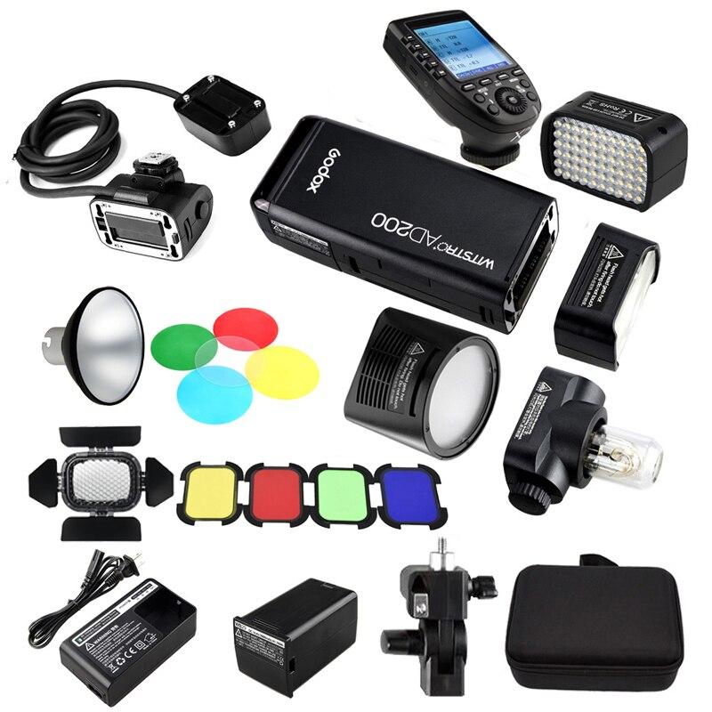 Godox AD200 2 4G TTL HSS Pocket Flash 4 Light Heads H200R H200 H200J AD L