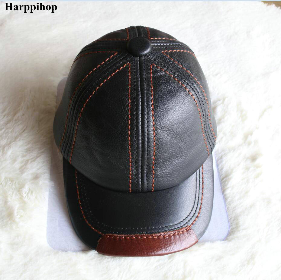 Autumn and winter high quality cowhide cap baseball cap male genuine leather hat male cap for man casual cap fashion sheepskin cadet for man genuine leather mens baret cowhide flat cap cabby hat vintage newsboy ivy driving cap