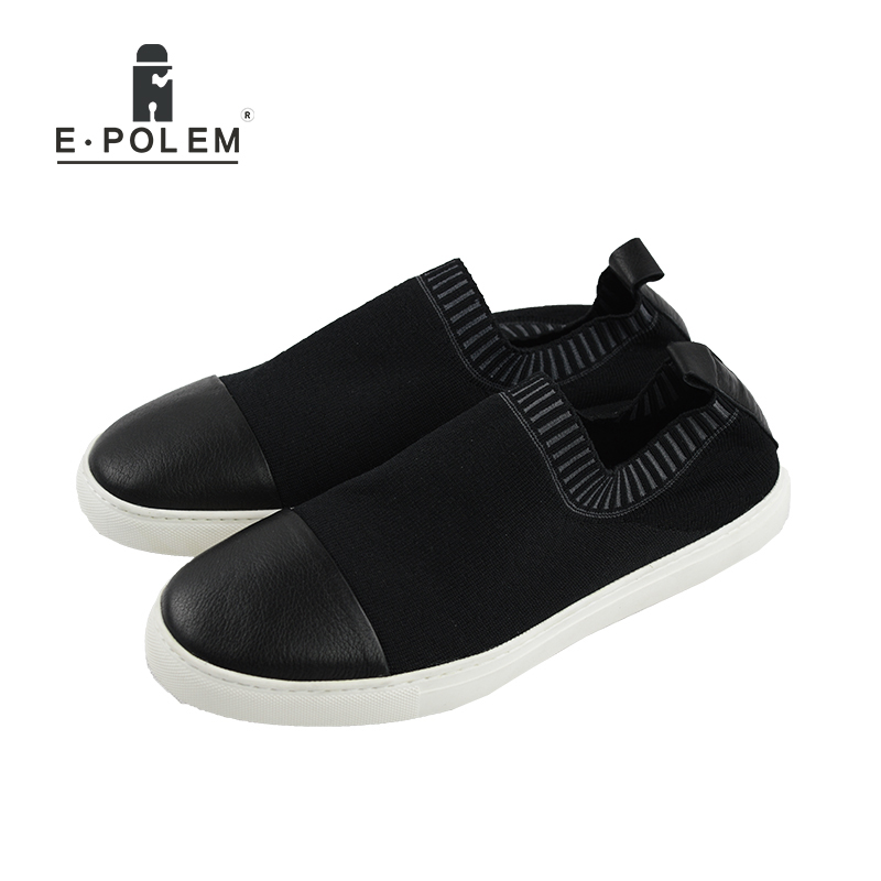 2017 Spring Summer Men Leisure Hollow Out Breathable Genuine Leather Shoes Male Black Low Help Slip-On Waterproof Loafers gram epos 2018 male spring summer trend casual leisure pu leather shoes breathable for man footwear loafers men s slip on flats