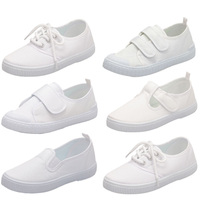 Girls Boys Children School Student White Sneakers Canvas Shoes For Girls Boys Dymnastics Dance Casual Shoes
