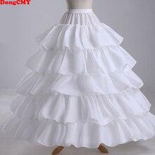 זול ארוך 4 חישוקי תחתונית תחתוניות עבור כדור שמלת חתונה שמלת Mariage תחתוני קרינולינה אביזרי חתונה