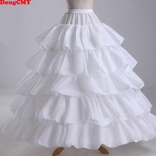 Cheap Long 4 Hoops Petticoat Underskirt For Ball Gown Wedding Dress Mariage Underwear Crinoline Wedding Accessories