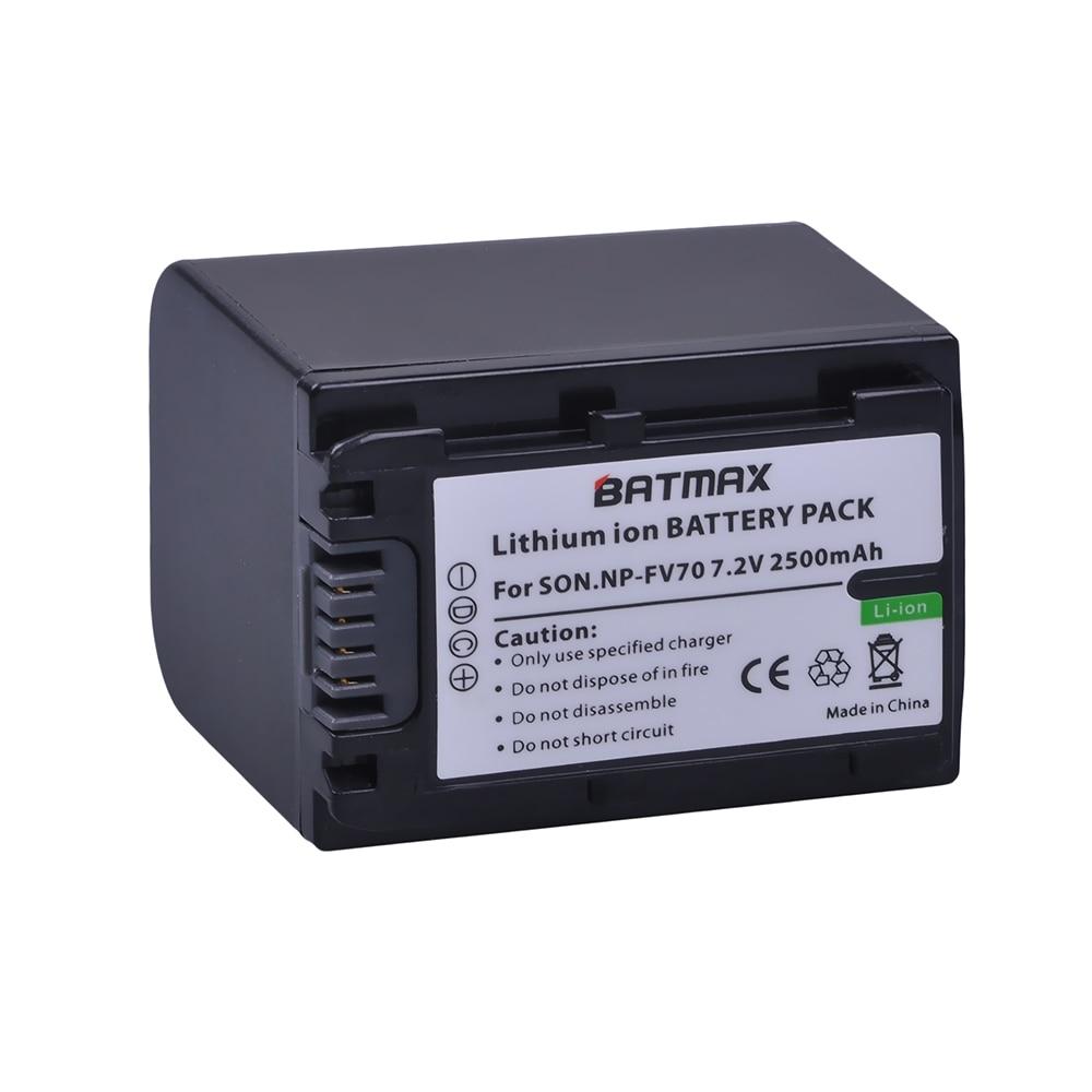 1 Pack 2500 mAh NP-FV70 NP FV70 NPFV70 batterie pour Sony NP-FV50 FV30 HDR-CX230 HDR-CX150E HDR-CX170 CX300 Z1