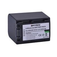 1 pacote 2500 mah NP-FV70 np fv70 npfv70 bateria para sony NP-FV50 fv30 HDR-CX230 HDR-CX150E HDR-CX170 cx300 z1