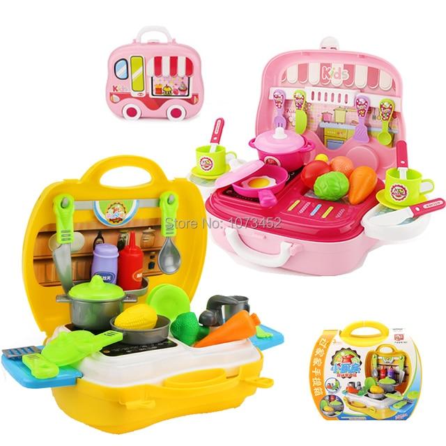26 pz/set Bambini cucina giocare set da cucina portatile design del ...