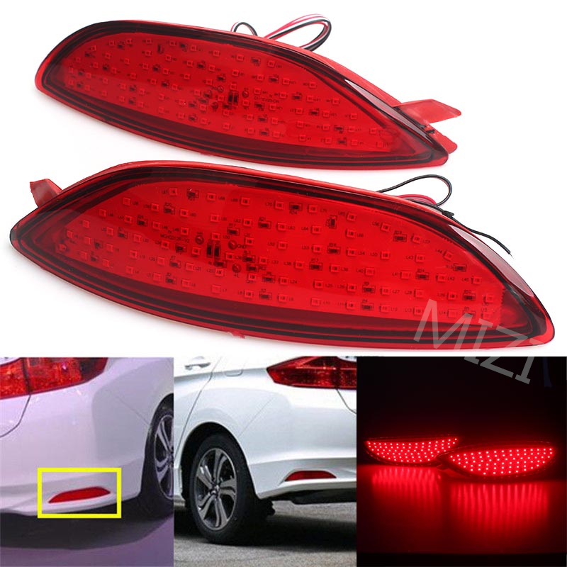 2Pcs/Lot Car Styling Warning Rear Bumper Reflector Brake Light For Hyundai Verna Solaris 2008 2009 2010 2011 2012 2013 2014 2015 accent verna solaris for hyundai led tail lamp 2011 2013 year red color yz