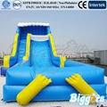 Inflatable biggors cor azul brincando com água corrediça inflável gigante para a venda