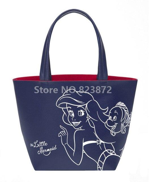 Little Mermaid Ariel Princess Small Pu Handbag S Lunch Bag For Women Kids School Tote