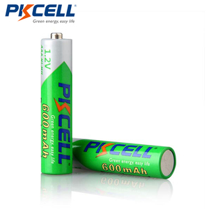 Image 4 - Promoção pkcell 50 pçs/lote 1.2 v 600 mah aaa nimh bateria recarregável ni mh baixo auto descarregado pré carregado baterias