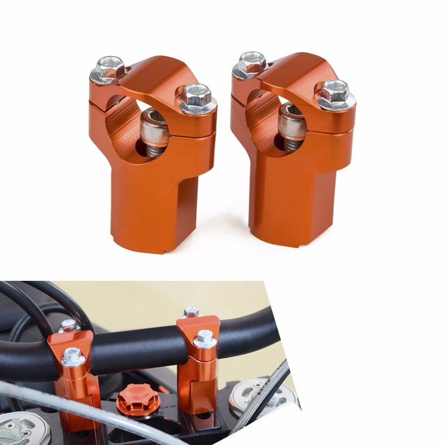 52mm CNC Handlebar Support Clamp Risers Bar Mount Clamp For KTM SX SX-F SXF EXC XC 125 250 300 350 400 450 500 505 525 2006 D35