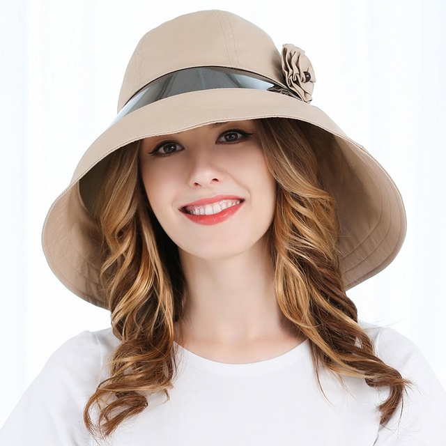 e531d72e938 New Summer Sun Hat Sunscreen Visor Cap Lady Leisure Sun Hats Women Summer  Large Brim Beach