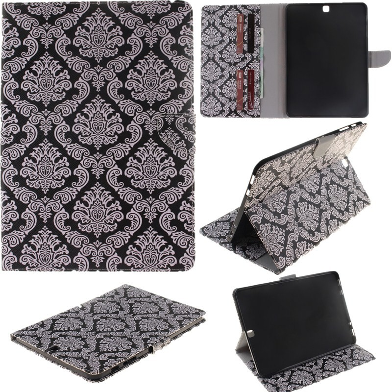 2 Sides Painted Tablet Case For Samsung Galaxy Tab S2 9.7\'\' T815SM -T810 Case Wallet Flip PU Leather Cover for Clever Gilrs Boy (59)
