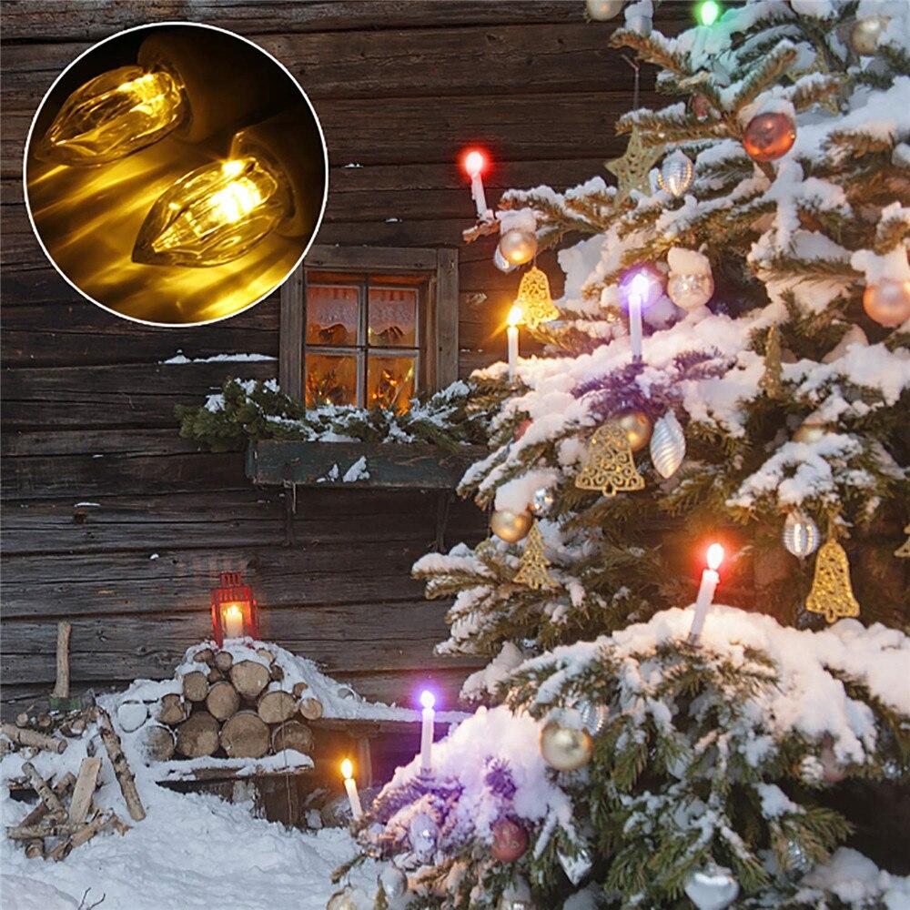 60 шт. светодиодный подсвечник с зажимами для дома, вечерние свадебные украшения, дистанционное управление, светодиодный беспламенный беспроводной рождественские свечи, лампа - 6