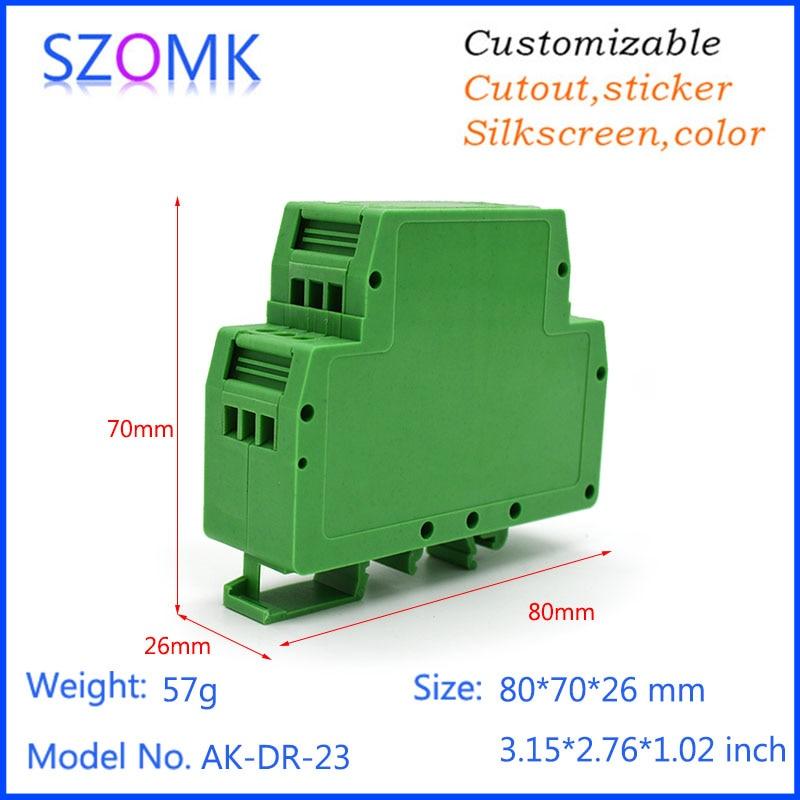 10pcs/lot high quality plastic din rail housing electronics case 80*70*MM electronic din rail box SOMK