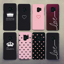 Para Samsung Galaxy A50 S10 S8 S9 Plus S8Plus S9Plus funda para Samsung A50 funda pareja Linda amor corazón negro rojo duro funda