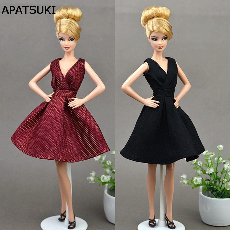 Doll Dresses Classical Evening Dress Purely Manual Clothes For Barbie Dolls For 1/6 BJD Doll Gift Doll Accessories