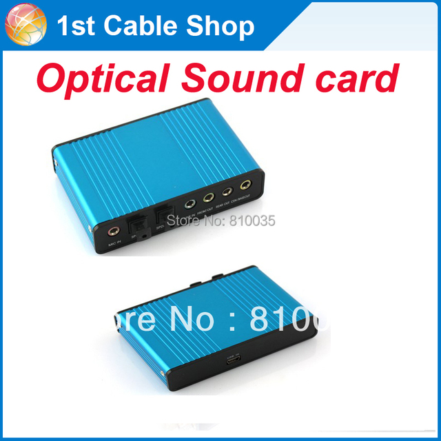 Free shipping&wholesale 1PCS/lot SPDIF 5 Channel 5.1 Optical USB Sound Card adapter converter
