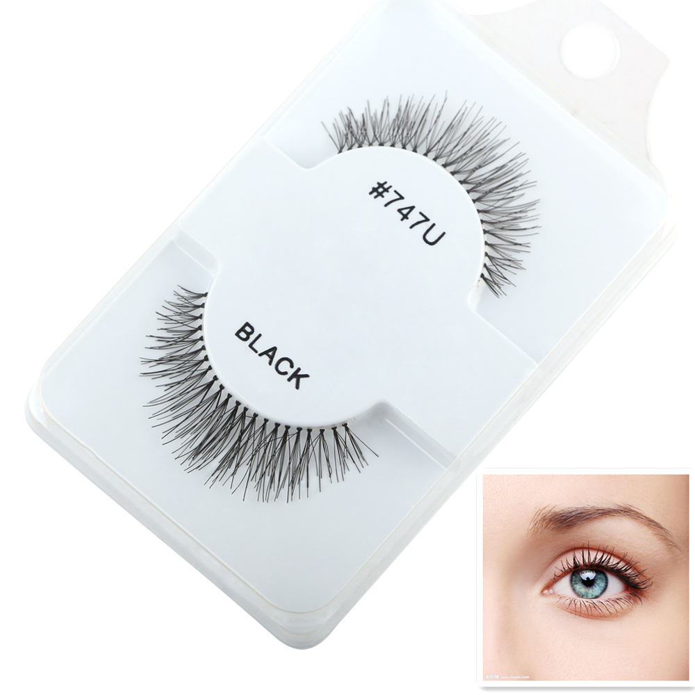 Naturally Short Pure Handmade Cross Slim Thick Eye Lashes Cotton Stems False EyelashesParagraph Daily Makeup Fake Eyelashes