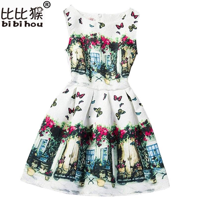 52973a366 2019 Vestidos para chica de verano imprimir niños de 12 años Vestidos niñas  ropa fiesta adolescentes vestido de la princesa Vestidos Nina ropa