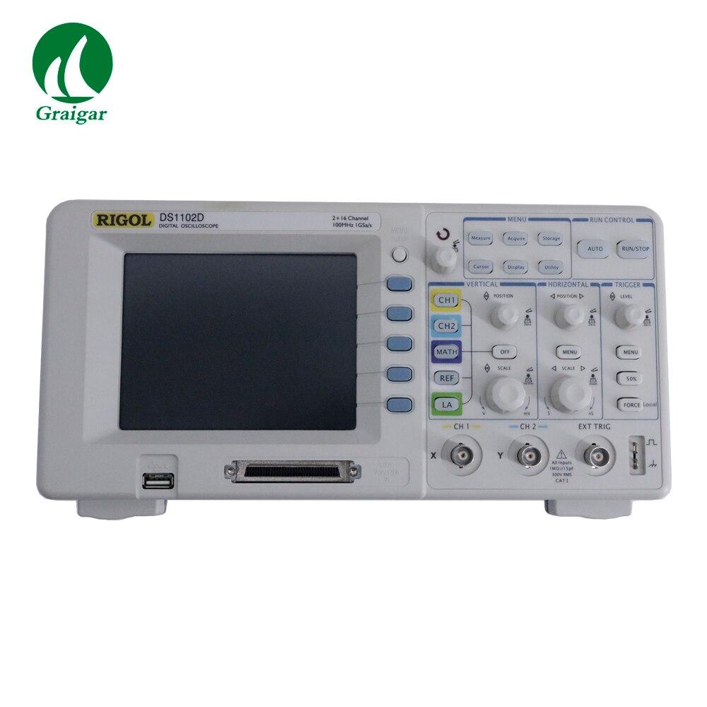 Oscilloscope numérique Rigol DS1102D 100 MHz 2 + 16 canaux 1GSa/s
